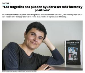 Entrevista en El Diario Montañes - Abril 2018
